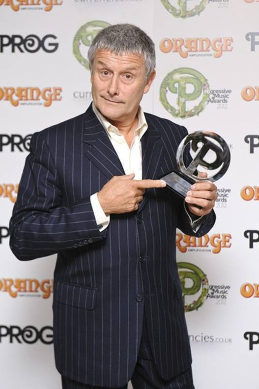 Carl Palmer receives Virtuoso award  		at Progressive Music Awards 2012.